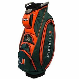 NEW MODEL! Team Golf Miami Hurricanes Victory Cart Golf Bag