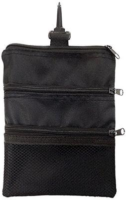 JP Lann Golf Multi-Pocket Tote Hand Bag and Valuables Pouch,