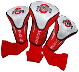 NCAA Ohio State Buckeyes 3 Pack Contour Golf Club Headcover