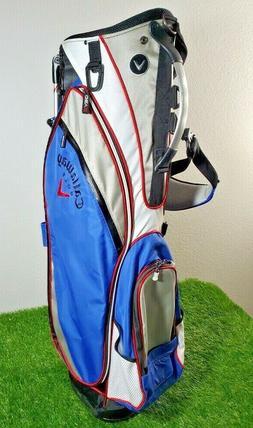 **NEAR MINT**  Callaway Golf Stand Bag Blue Gray White 6 Way