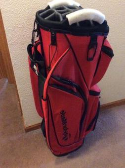 New 2017 Taylormade Supreme Cart Golf Bag - Red - 14way Top