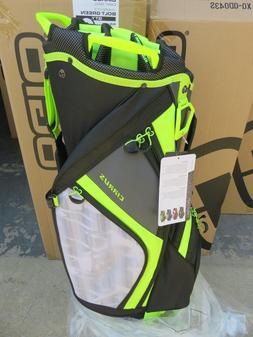 NEW * Ogio 2018 CIRRUS BOLT GREEN 16 Way Divider CART Bag