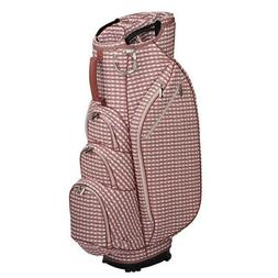 NEW 2019 OUUL WOMEN CHECKWAVE CART BAG PINK/WHITE