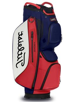 New 2020 Titleist Cart 15 StaDry Bag Navy/White/Red