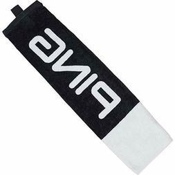 "New 2020 Ping Tri-Fold 21""x16"" Black/White Cart Bag Towel"