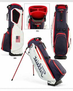 NEW 2020 TITLEIST USA FLAG PLAYER 4 STAND BAG NAVY /WHITE RE