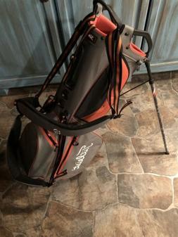 New!! Titleist 4up Lightweight StaDry Grey/Orange Stand Bag!