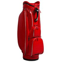 NEW * OUUL ALLIGATOR ASIA RED 6 Way Divider CART Golf Bag