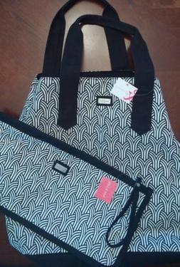 New Ame & Lulu Wish Black White design Beach Bag Golf Tote H