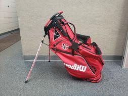 NEW Authentic 2019 Wilson Staff Tour Red ClassiX Stand/Carry