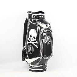 New Guiote Black Skull Golf staff bag caddie cart bag comes