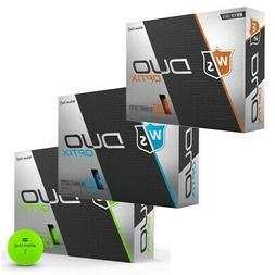 NEW Wilson Staff DUO Optix Matte Colored Golf Balls - Pick C