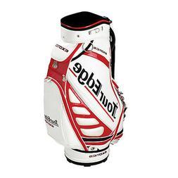 New Tour Edge Exotice Golf Staff Cart Bag 6-way Top White /