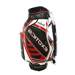 New Tour Edge Exotice Golf Staff Cart Bag 6-way Top Black /