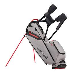 New TaylorMade Flextech Lite Stand Bag - Gray / Red