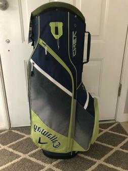 NEW Callaway Golf 2018 Chev Cart / Carry Bag 14-way Top - Na