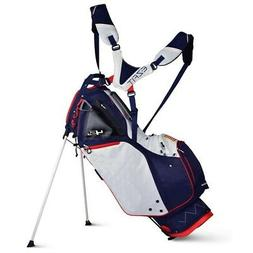 New Sun Mountain Golf 4.5 LS 14-Way Stand Bag Navy/White/Red