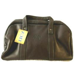 New TICA Golf Accessories Leather Duffle Bag Brown Large Cou