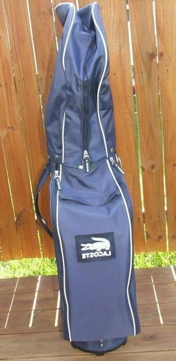~ NEW ~ Lacoste Golf Bag Staff Cart Navy Blue Golf Club Carr