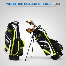 New Golf Bag with Stand 14 Sockets Multi Pockets Outdoor Spo