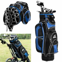 NEW Golf Cart Bag 14 Way Top Dividers 12 Pockets  7.5lbs Blu