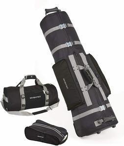 New Samsonite Golf Deluxe 3 Piece Travel Set, Wheeling Golf