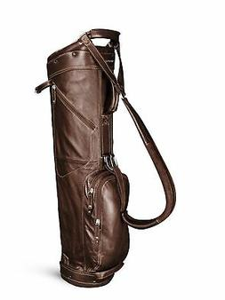 New Sun Mountain Golf- Leather Sunday Bag Brown/Khaki G82367