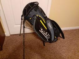 New Titleist Golf Players 4 Stand Bag Charcoal/Black/Volt Fr