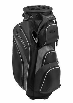 New Bag Boy Golf- Revolver XP Cart Bag Black/Charcoal/Silver