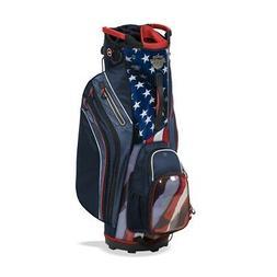 New Bag Boy Golf- Shield Cart Bag USA/Navy/Red/White