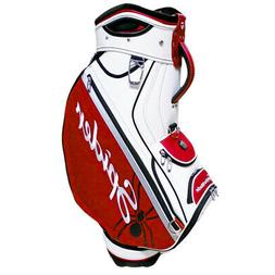NEW TaylorMade Golf Spider TP Staff Bag 2018 6-way Top Red /