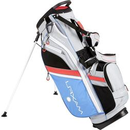 New Maxfli Honors Stand Bag Ladies Grey Coral Blue Lightweig