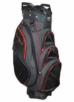 New Hot Z Golf- 4.5 Cart Bag Black/Heather/Red