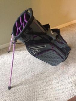 New Callaway Hyper Lite 5 Women's Charcoal Purple Golf Bag 7