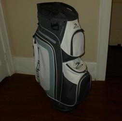 New Lightweight COBRA GOLF Grey/White CART BAG 14-Way Divide