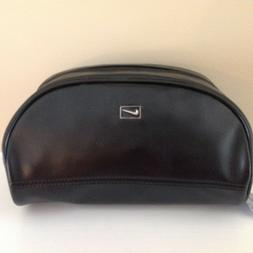NEW Nike Golf Men's Black P/U Leather Travel Toiletry Bag Sh