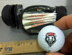 NEW MEXICO LOBOS golf ball & golf tee set, 3 balls, 5 tees i