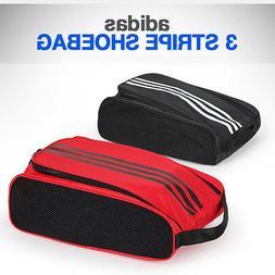 adidas New Model 3 Stripe Golf Shoes Bag Zipped Sports Bag S