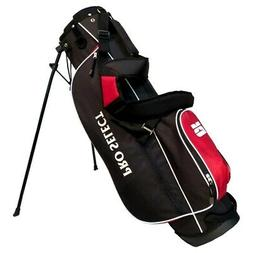 NEW Pro Select Stand / Carry Golf Bag 4-way Top Black / Red