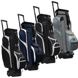 """NEW RJ Sports Spinner 9.5"""" Transport Cart Bag 14-way Top - Y"""