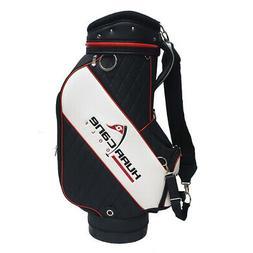 NEW Hurricane Golf Staff Bag Black/White - 10x9 Inch Top - 6