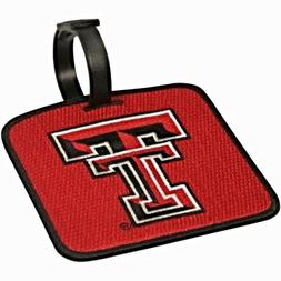 NEW! Texas Tech Red Raiders Golf Bag Tag Embroidered Luggage