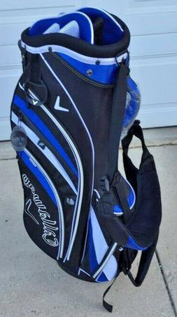 *NEW* Callaway V Men's Stand - Carry Golf Bag - 2 Tone Blue/