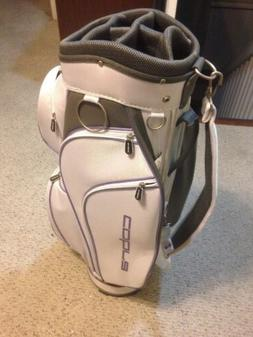 New Cobra Women's Golf Cart Bag White Purple 9 Pockets