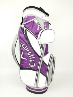 New Womens Callaway Solaire Cart Bag White Purple Black Gray