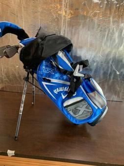 New Callaway XJ Junior Blue  5 Piece Complete Golf Set RH 17