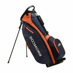 NFL Denver Broncos Team Logo Design Carry Golf Bag with Ligh