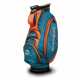 Team Golf NFL Miami Dolphins Victory Golf Cart Bag, 10-way T