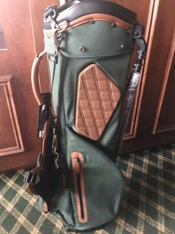 NWT TITLEIST LINKSMASTER MEMBERS CANVAS GOLF BAG SPRUCE/BROW