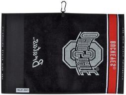 Team Effort Ohio State Buckeyes Face/Club Jacquard Towel
